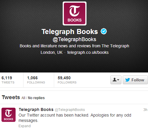 Facebook and Twitter Accounts of The Telegraph News Hacked by Syrian Electronic Army-2
