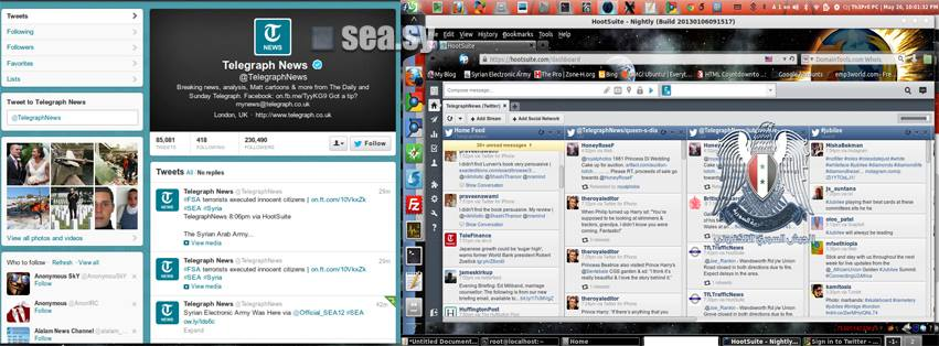 Facebook and Twitter Accounts of The Telegraph News Hacked by Syrian Electronic Army-22
