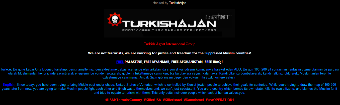 #usaOPERATION1- Akron-Canton -Airport-Hacked-15,000-accounts-leaked- by-Turkish-Ajan- -Hacking- -Group