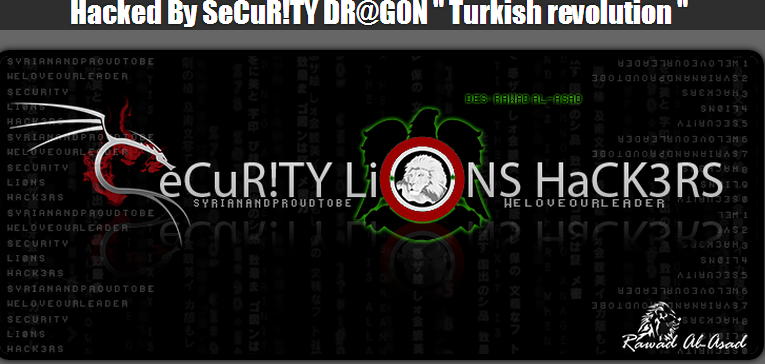 #OpTurkey-34-Turkish-Websites-Hacked-Defaced-by-Security-Dr@Gon