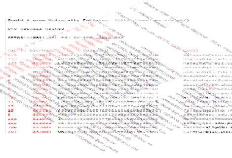 Quaid-e-Azam University Pakistan Hacked, Login Info leaked by Indian Hacker