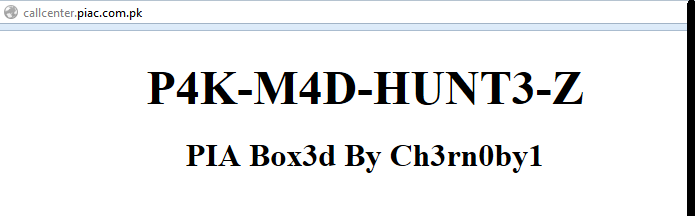Official Website of Pakistan International Airlines (PIA) Hacked and Defaced by Ch3rn0by1