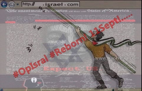 #OpIsrael: Anonymous calls on all Muslim hackers for joint cyber attack on US and Israel on September 11, 2013