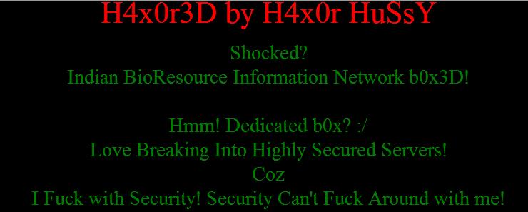 Pakistani-hacker-hacks-indian-bioresource-information-network