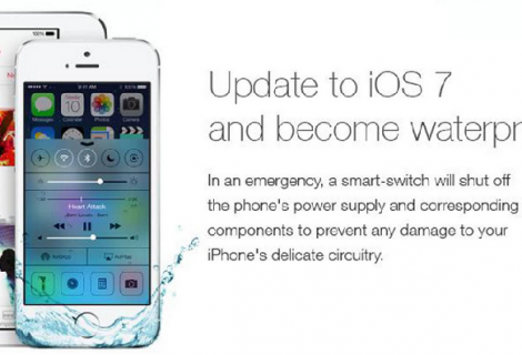 Fake 'Waterproof iPhone' ad tricks users into iOS7 Update and Destroy their smartphones