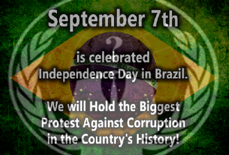 #OP7: Anonymous Brazil calls for biggest protest in the history of Brazil on September 7