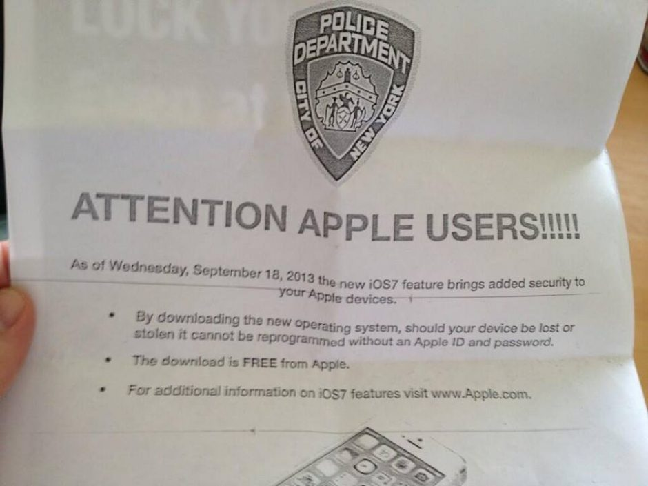 Why NYPD is asking Users to Update iPads and iPhones to iOS 7?