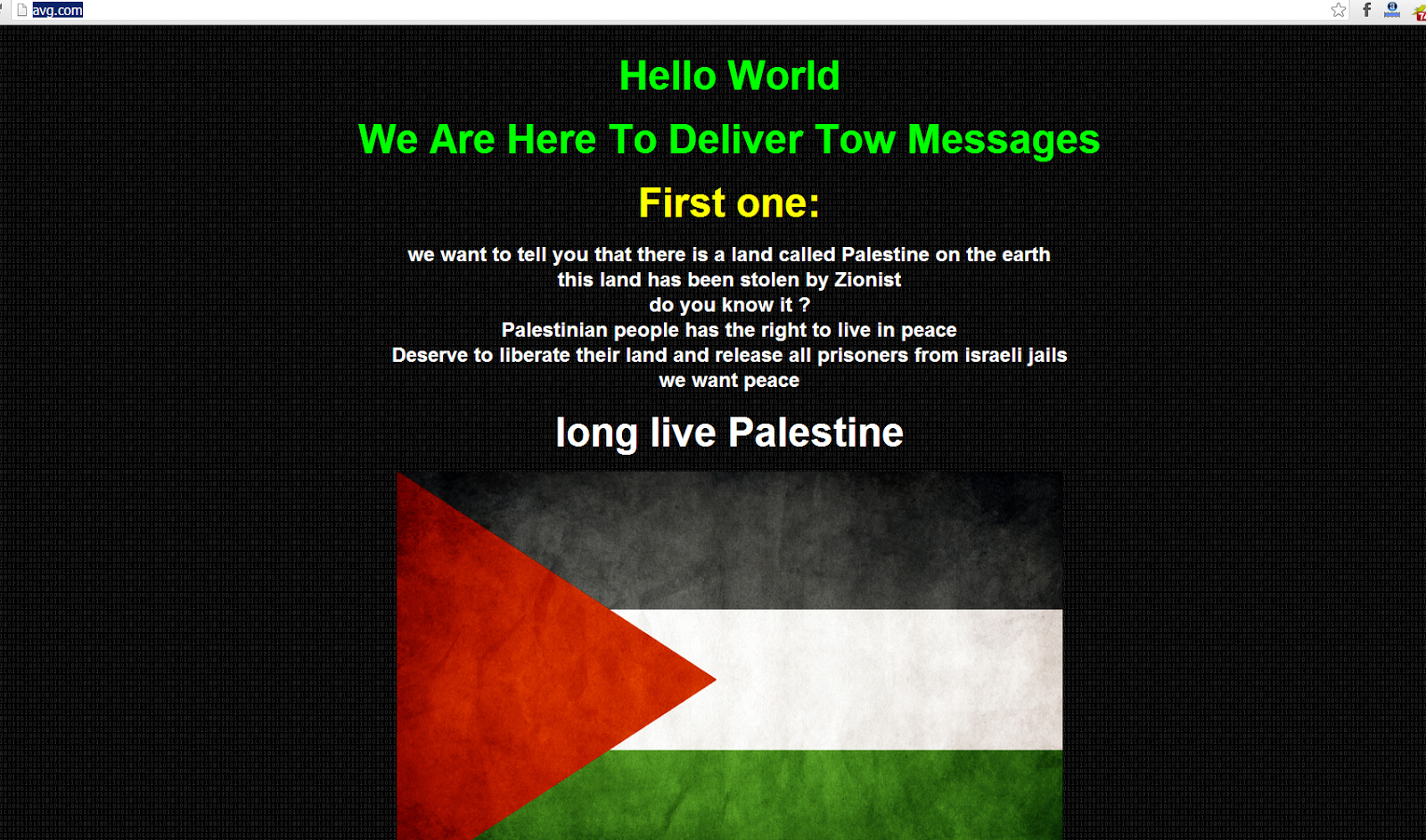 Whatsapp and AVG Antivirus Firm Websites defaced by Palestinian Hackers