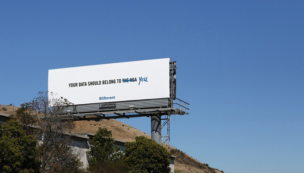 BitTorrent Bashes NSA In Stunning Billboard Campaign