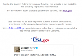 NASA and National Park Websites Taken Down Following Government Shutdown