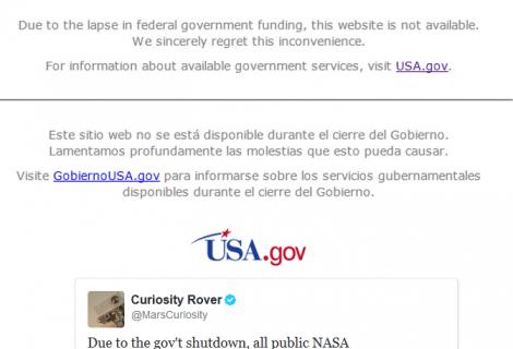 NASA and National Park Websites Taken Down Following Government Shutdown