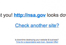 National Security Agency (NSA) Website Down in a 'Could Be' DDoS attack