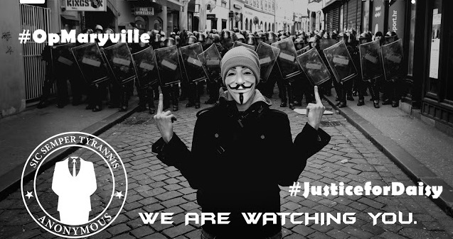 #OpMaryville: Anonymous Threatens To Go After Alleged Rapists, Prepares Twitter Storm for #JusticeforDaisy