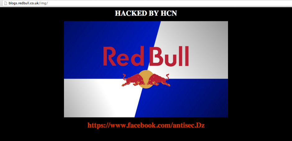 Red Bull Energy Drink Server Hacked, Domains of 09 Countries Defaced by Oxer-X
