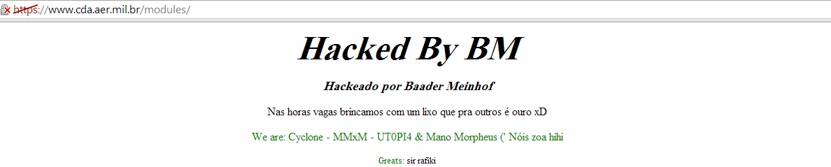 BMPoC Hacking Group Hacks and Defaces 21 Brazilian Military Domains