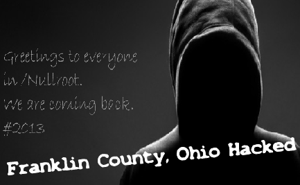 Official Franklin County, Ohio Website/Portal Hacked and Defaced by Nullroot