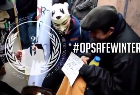 #OPSafeWinter: Anonymous to raise voice against poverty and homeless around the world