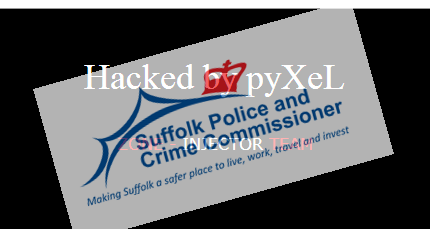 UK's Suffolk County Police & Crime Commissioner Website Hacked by Zone Injector Team