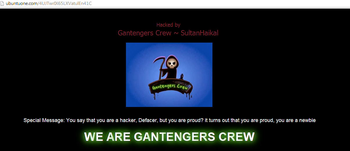 6-official-domains-of-ubuntu-one-hacked-and-defaced-by-indonesian-gantengers-crew