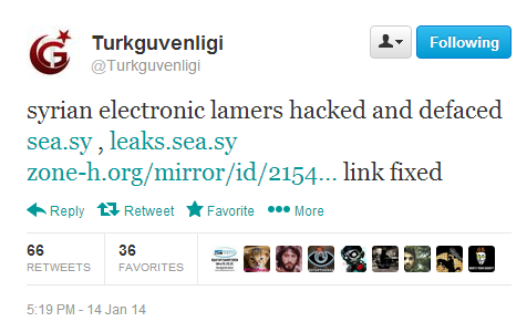 Syrian Electronic Army's official website hacked and defaced by Turkish Hackers