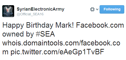 'Happy Birthday Mark!' Syrian Electronic Army claims control over Facebook, Google, Yahoo and Amazon domains-2-7