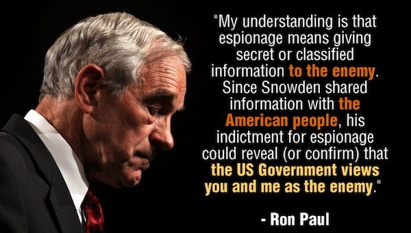 Ron Paul Launches Clemency Petition for Snowden!