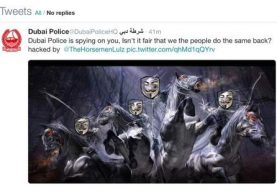 Dubai Police Official Twitter, LinkedIn and Pinterest accounts Hacked by Anonymous