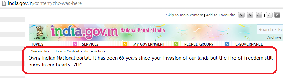 national-portal-of-india-hacked-by-z-company-hacking-crew