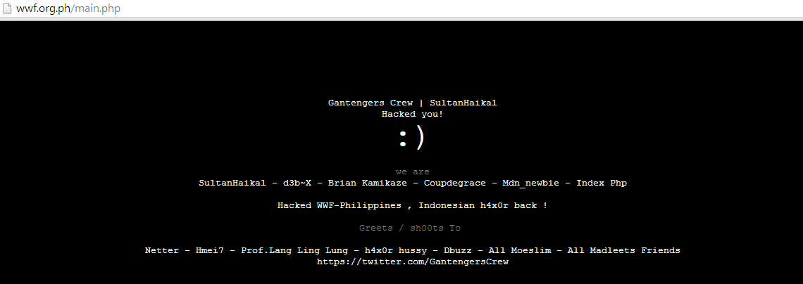 official-websites-of-wwf-and-earth-hour-philippines-hacked-by-indonesian-hackers