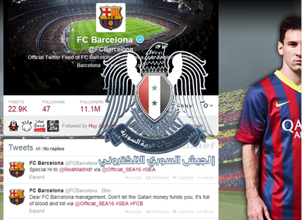 Syrian Electronic Army Hacks Official Twitter Accounts of FC Barcelona