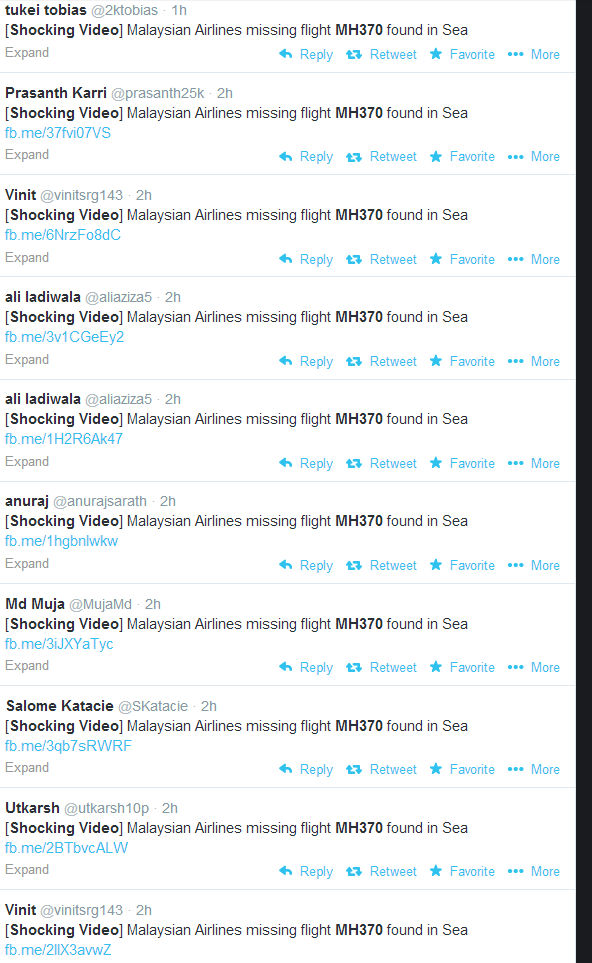 The scam goes viral on Twitter