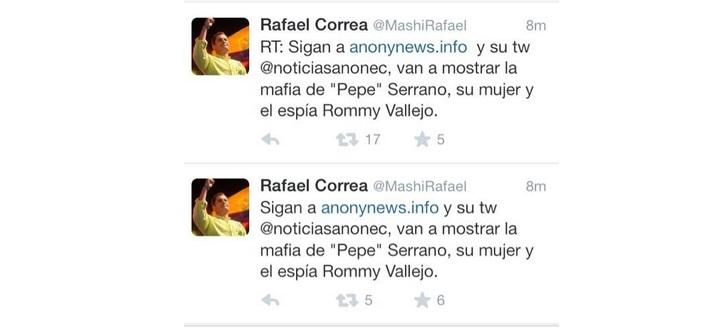 Anonymous Ecuador Hacks Official Twitter Account of Ecuador