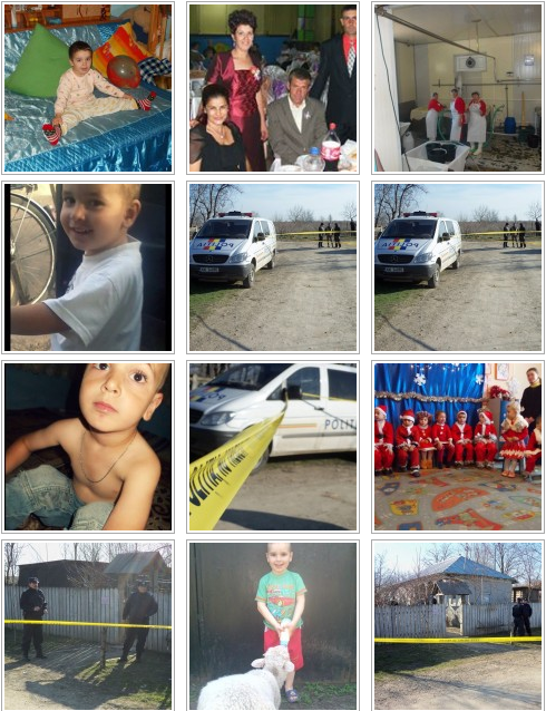 Family and crime scene images