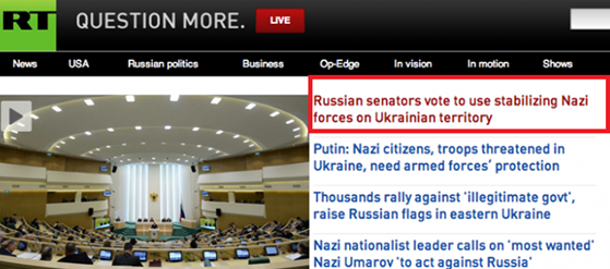Russia Today (RT) website hacked, Headline Edited with the word ''Nazi''