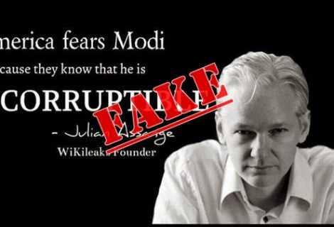 Indian politician faking WikiLeaks' Julian Assange words to gain popularity