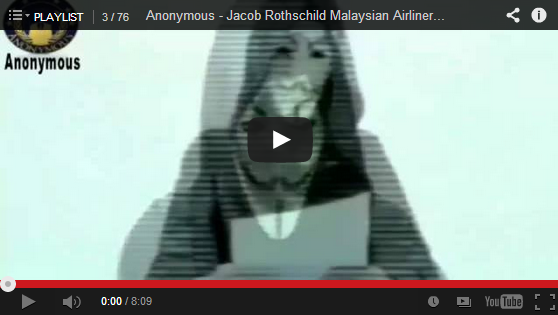 Anonymous Exposes How Rothschild Family Profited from missing Malaysian Airliner MH 370
