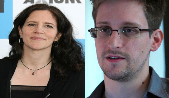 Laura Poitras and Edward Snowden