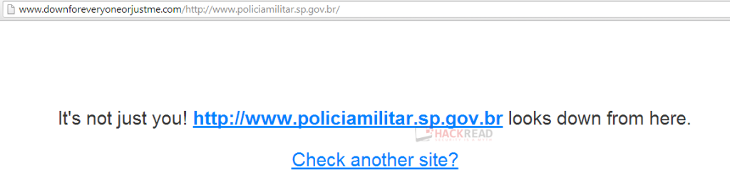 Anonymous Crushes Down Military Police of São Paulo Website