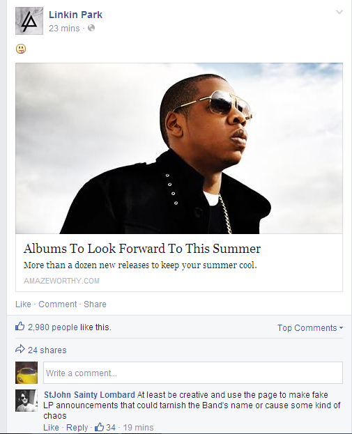 linkin-park-official-facebook-page-hacked-spammed-with-adverts-6