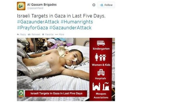 Hamas tries to win over the public with images of wounded civilians