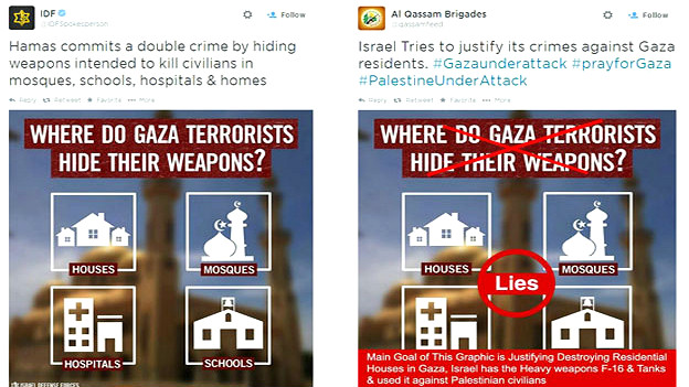 Gaza says Israeli propaganda hides weapons in schools and hospitals, and deny Palestinians