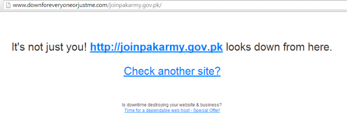 Join Pakistan Army is down