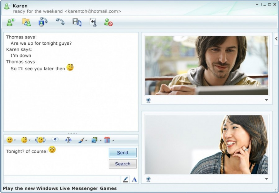 MSN Messenger / Credit: Microsoft.com