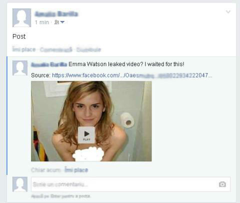 Emma Watson Nude Video/Pictures Scam Delivers Malware, Hijacks Facebook Session