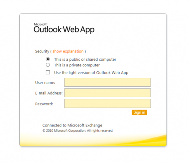 Russian Spear-Fishing Website Hosts Outlook Web App Phishing