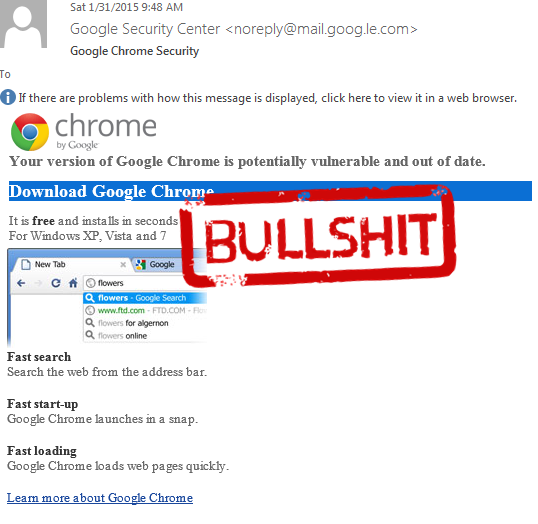 Fake Google Chrome update leads to CTB Locker/Critroni Ransomware