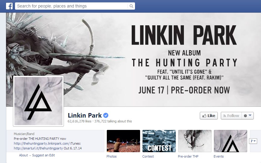 linkin-park-official-facebook-page-hacked-spammed-with-adverts