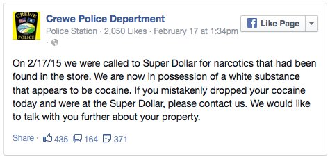 police-use-facebook-to-try-to-find-person-who-dropped-bag-of-cocaine