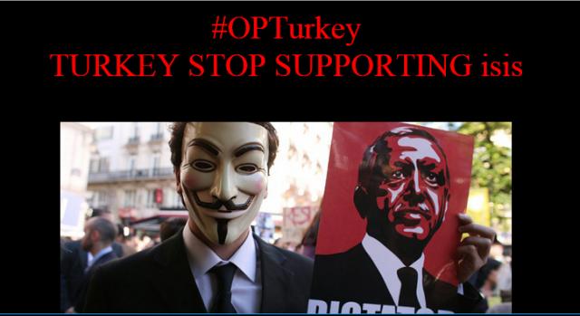 """""""Stop Supporting ISIS"""": Anonymous Kurdistan Hacks Turkish Govt. Websites"""