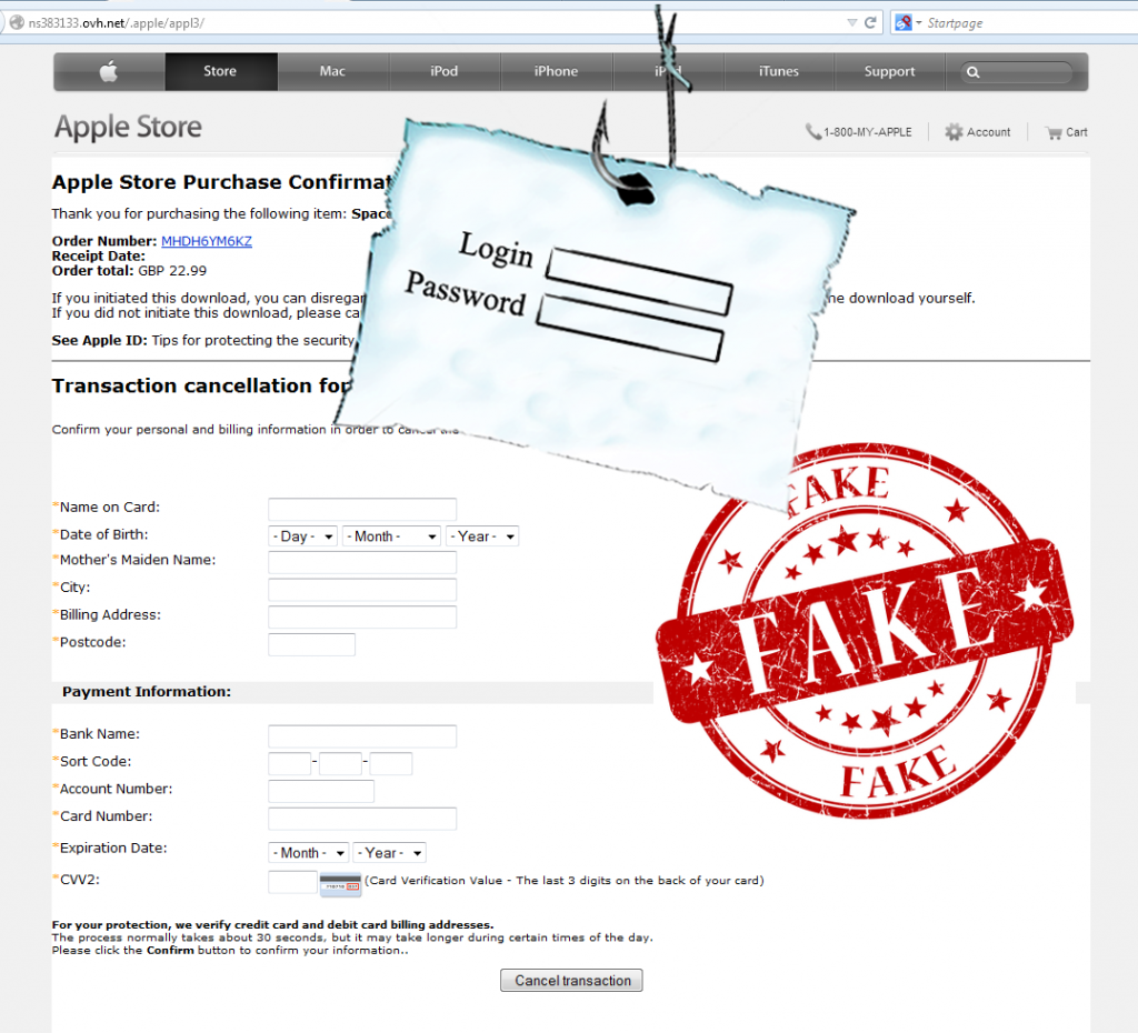 App Store Phishing Email Stealing Apple User Credentials